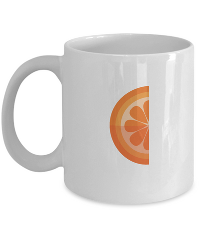 Orange slice coffee mugs - Funny Christmas Gifts - Porcelain White coffee mugs 11 oz