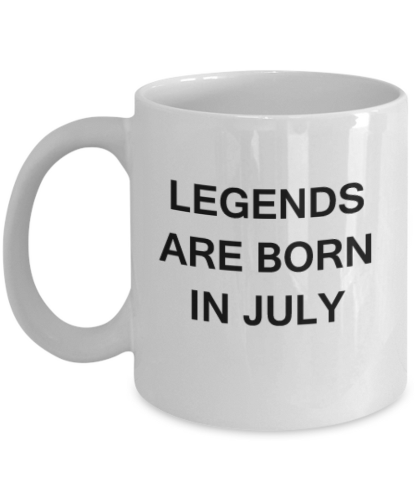 Legends are born in July Month Zodiac - Star Sign - Mug - Star  White coffee mugs 11 oz