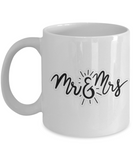 Mr and Mrs Coffee Cup - White Porcelain Coffee Cup,Premium 11 oz White coffee cup