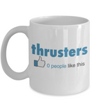 Fitness Lovers mugs , Thrusters - White Coffee Mug Porcelain Tea Cup 11 oz - Great Gift