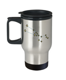 Taurus Constellation Travel Mug Unique - Stars Appear in the 14 oz Travel mugs