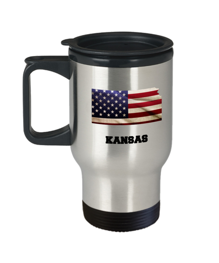 I Love Kansas Coffee Travel mug sets - 14 OZ coffee mugs  State Love Funny Gift Idea Cup
