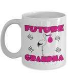 Future Grandma  Mug - White Porcelain Coffee Cup,Premium 11 oz White coffee cup