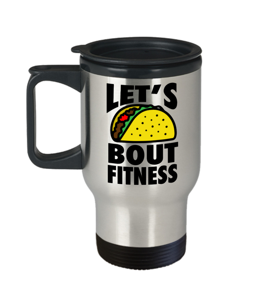 Fitness Lovers mugs , Let's bout fitness - Stainless Steel Travel Insulated Tumblers Mug 14 oz - Great Gift