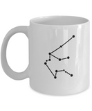 Aquarius Constellation Coffee Mug White Unique Large Big White Coffee cup-Stars Appear in the White Sky-11 OZ-Ceramic-Gifts for Birthday,Christmas-Aquarius - 11 OZ Funny Coffee mugs tea cup Gift Ideas White Coffee mugs