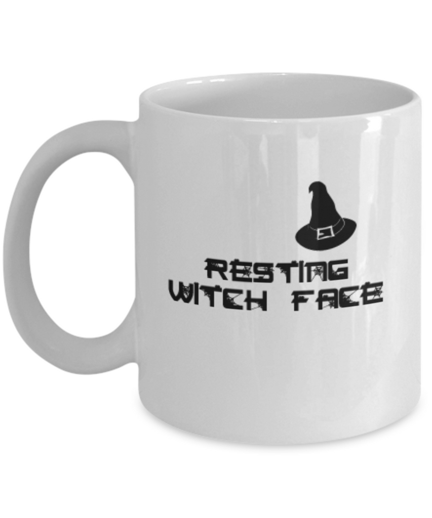 Resting Witch Face Coffee Mugs Tea cups 11 OZ Halloween Party Scary Witch Gift