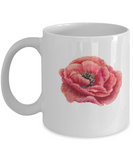 Flowers and Leaves 4 coffee mugs - Funny Christmas Gifts White coffee mugs 11 oz