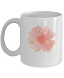 Flowers and Leaves 8 coffee mugs - Funny Christmas White coffee mugs 11 oz