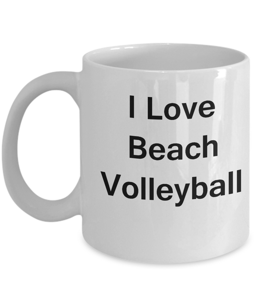 Beach Volleyball Lovers Gifts - I Love Beach Volleyball/Sports - white Coffee Cup Gifts 11 oz