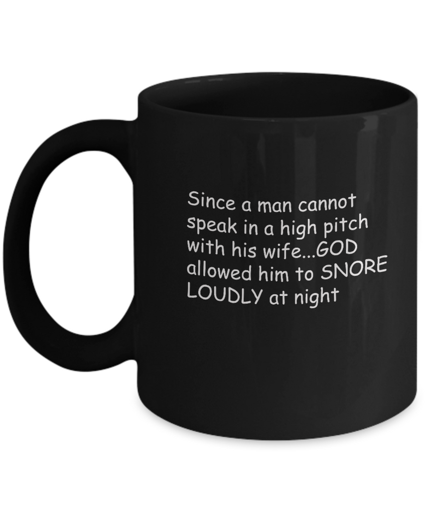 Snore Loud Husbands Black Mugs - Funny Christmas Kids Gifts - Black coffee mugs 11 oz