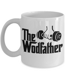 Fitness Lovers mugs , The Wodfather - White Coffee Mug Porcelain Tea Cup 11 oz - Great Gift