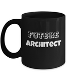 Architect Coffee Mug - Black Porcelain Coffee Cup,Premium 11 oz White coffee cup