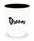 Groom King gifts mugs - Funny Shot Glass Premium Gifts Ideas