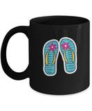 Footwears with Flowers Lotion Funny Black Mugs - Funny Valentines Black coffee mugs 11 oz