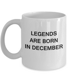 Legends are born in December Month Zodiac - Star Sign - Mug - Star Sign Mug - Birthday Gift - Astrology Mug - Birthday Gift Mug, Coffee Coffee Mug 11 OZ