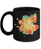 Colorfull Watercolor Collection 11 Oz Funny Porcelain Black Coffee Mug