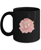 Flowers and Leaves 1 Black Mugs - Funny Christmas Kids Gifts Black coffee mugs 11 oz