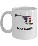 I Love Maryland Coffee Mugs Coffee mug sets - 11 Oz State Love Gift Idea Tea Cup Funny