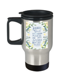 Bible verse mugs for women , A new Creation By Christ - Stainless Steel Travel Mug 14 oz Gift