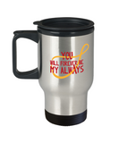 You will forever be my always travel mugs - Funny Valentines day Gifts - 14 oz Travel mugs