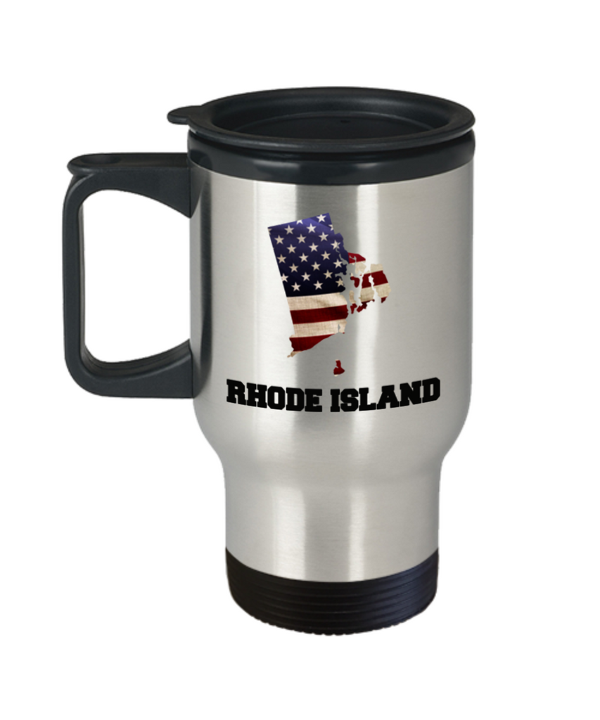 I Love Rhode Island Travel Coffee Mugs Travel Coffee Cup sets - Travel Mug Travel Coffee Mugs Tea Cups 14 OZ Gift Ideas State Love Gift Idea