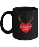 Deer valentine's day Black coffee Mugs - Funny Valentines day Black coffee mugs 11 oz