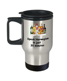 Speak Norwegian in 30 Minutes Funny travel mugs - Funny Christmas 14 oz Travel mugs