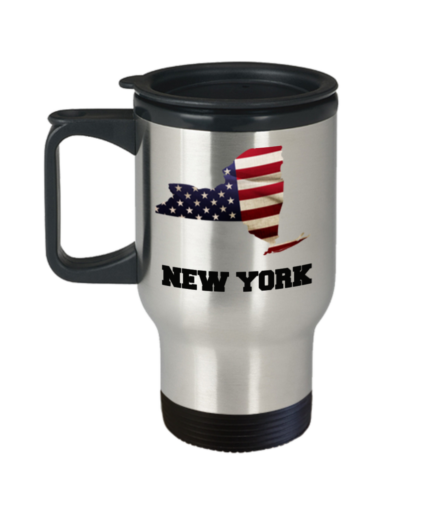 I Love New York Travel Coffee Mugs Travel Coffee Cup sets - Travel Mug Travel Coffee Mugs Tea Cups 14 OZ Gift Ideas State Love Gift Idea