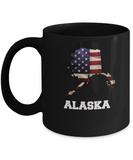 I Love Alaska Coffee mug sets - 11 OZ Black coffee mugs  State Love Gift Idea Cup Funny