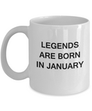Legends are Born In January Month Zodiac - Star Sign - Mug - Star  White coffee mugs 11 oz