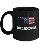 I Love Oklahoma Coffee mug sets - 11 OZ Black coffee mugs  State Love Gift Idea Cup Funny
