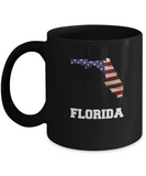 I Love Florida Coffee mug sets - 11 OZ Black coffee mugs  State Love Gift Idea Cup Funny