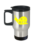 Gift gor animal lovers , Sorry I'm late - Stainless Steel Travel Insulated Tumblers Mug 14 oz - Great Gift