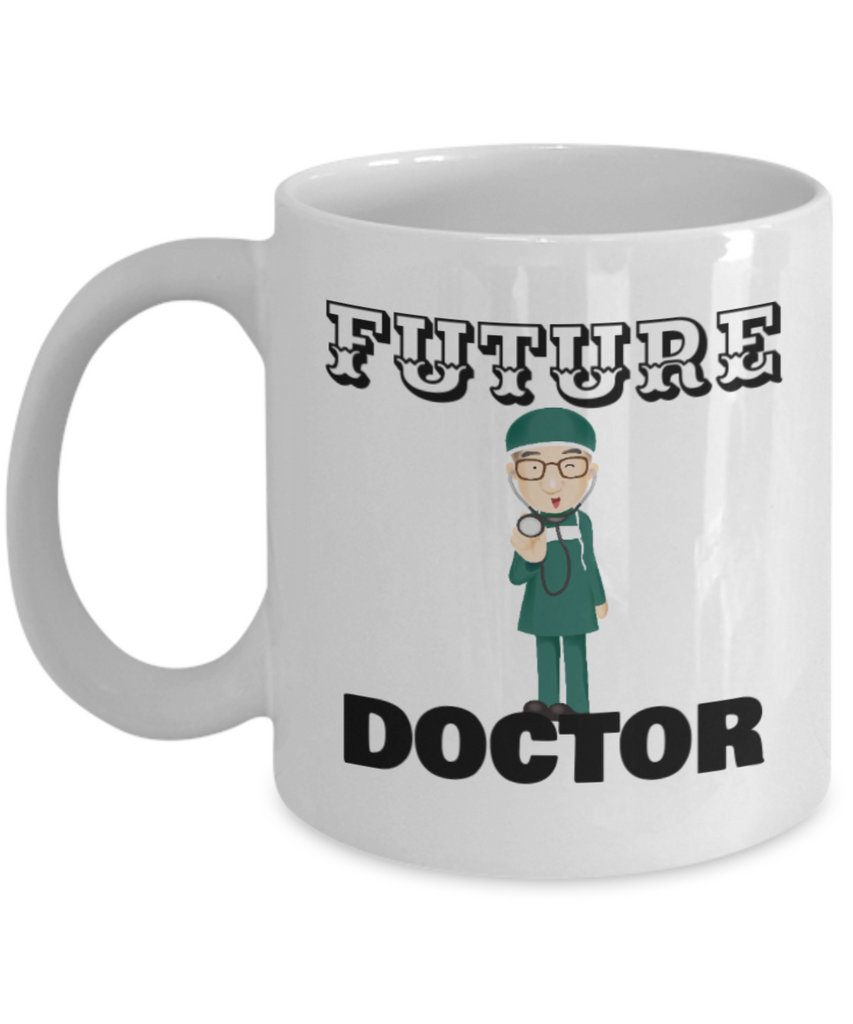 Future Doctor Coffee Cup - White Porcelain Coffee Cup,Premium 11 oz White coffee cup