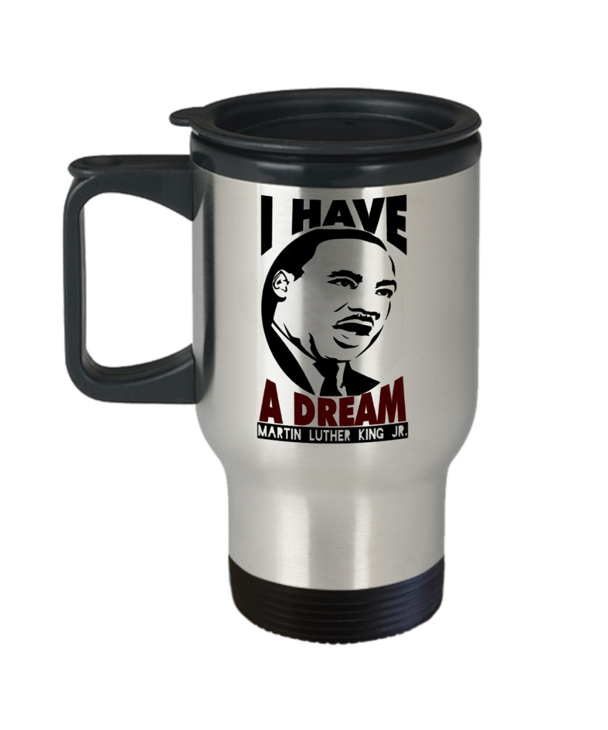 Martin luther king jr malcom x and the civil rights struggle, Dream Struggle Freedom - Travel Mug, Premium 14 oz Travel Coffee cup