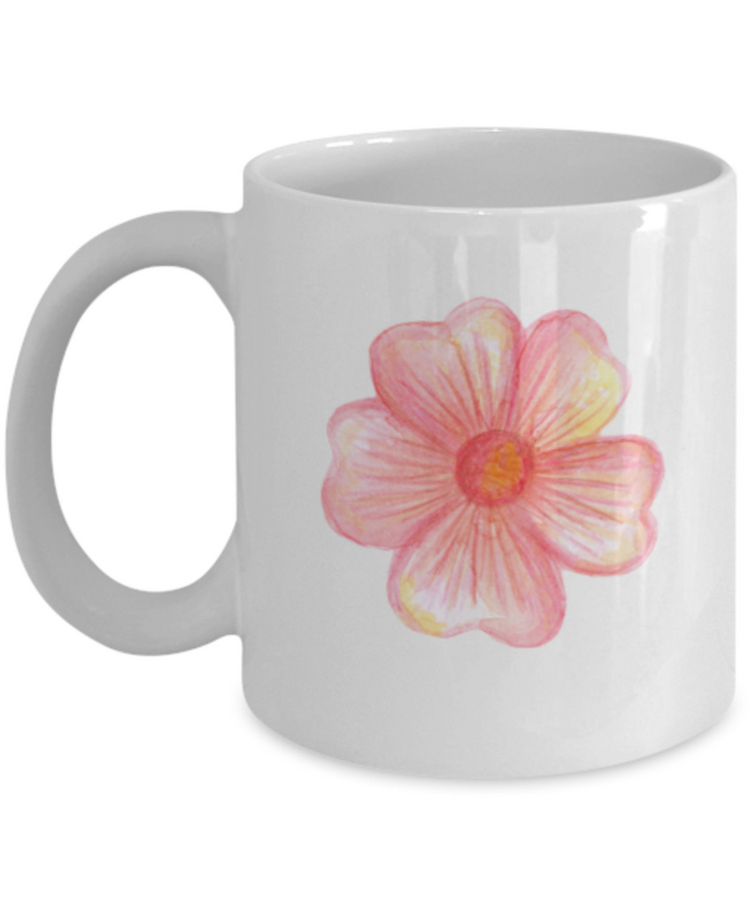 Flowers and Leaves 6 coffee mugs - Funny Christmas Gifts White coffee mugs 11 oz