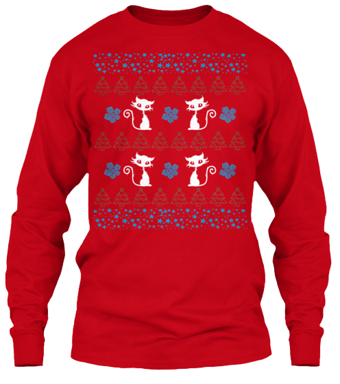 Christmas Cute Cat Ugly Sweater - Zapbest2  - 9