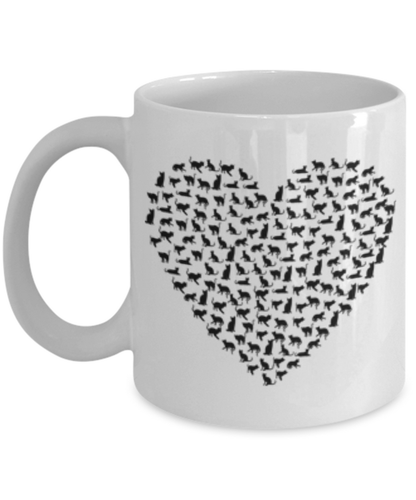 Funny Coffee Mug - Animal Shape Love Mugs - Funny Farm Pet Animal Lover Saying Home Office Coffee Mug Tea Cup White 11 OZ