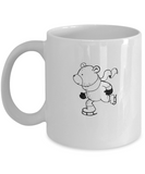 Christmas Doodles Teddy Bear coffee Mugs - Funny Christmas White coffee mugs 11 oz