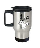 Christmas Doodles Deer Antler travel Mugs - Funny Christmas 14 oz Travel mugs