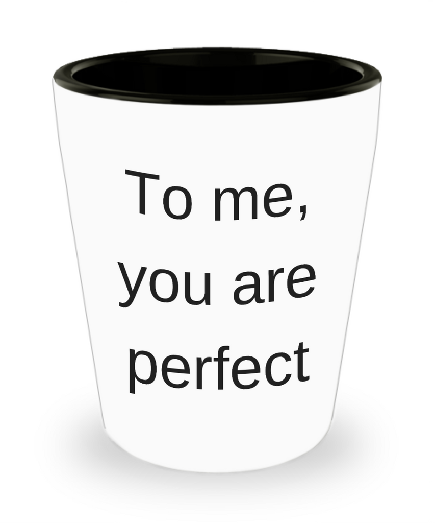 One year anniversary gifts for boyfriend funny shot glass - To me You are Perfect - Shot Glass Premium Gifts Ideas