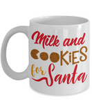 Rumbles the cloud and santa's greatest gift - Milk and Cookies for Santa - Funny Santa Gift Mugs, Christmas Gifts for family Ceramic Cup White, Funny Mugs Gift Ideas 11 Oz