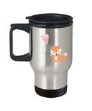 Foxy Valentine travel mugs - Funny Valentines day Gifts - Funny 14 oz Travel mugs