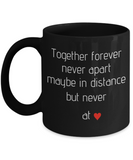 Together Forever His and Hers Black Coffee Mugs-Couple Coffee Mugs,Black coffee mugs 11 oz
