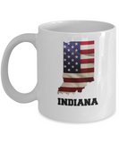 I Love Indiana Coffee Mugs Coffee mug sets - 11 Oz State Love Gift Idea Tea Cup Funny