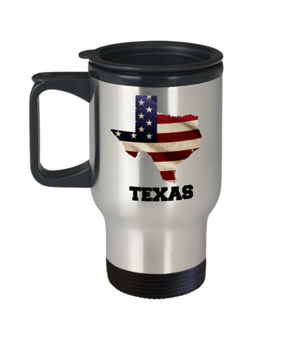I Love Texas Travel Coffee Mugs Travel Coffee Cup sets - 14 oz Travel mugs