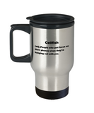 Cellfish People who focus on their phones while with you - Premium 14 oz Travel Coffee Mug