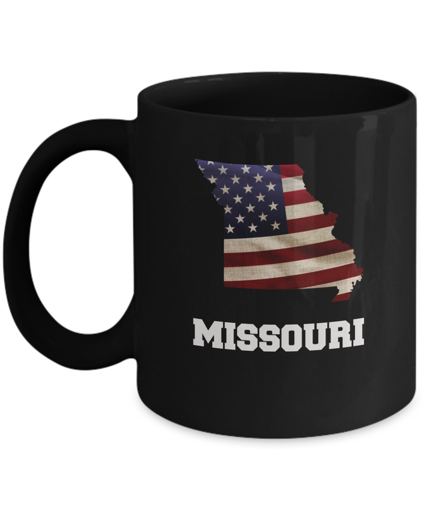 I Love Missouri  Coffee mug sets - 11 OZ Black coffee mugs  State Love Funny Gift Idea Cup