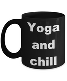 Yoga and Chill - Black Porcelain Coffee 11 oz