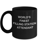 World's Finest Filling station attendant - Black coffee mugs 11 oz